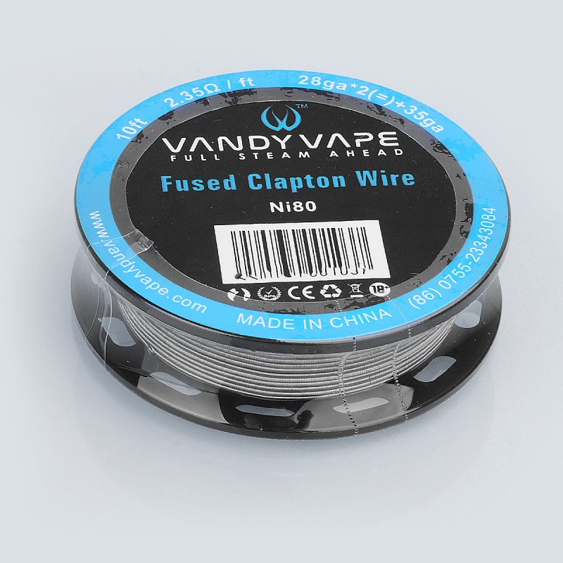 Authentic Vandy Vape Ni80 Fused Clapton Wire 2.35ohm Heating Wire