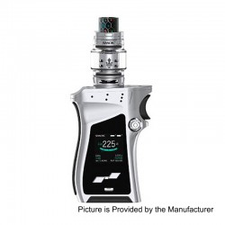 Authentic SMOKTech SMOK Mag 225W TC VW Mod + TFV12 Prince Tank Kit - Silver Black, 6~225W, 2 x 18650, 8ml, 28mm Diameter