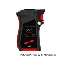 Authentic SMOKTech SMOK Mag 225W TC VW Variable Wattage Mod - Black Red, 6~225W, 2 x 18650
