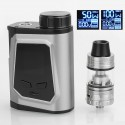 Authentic IJOY CAPO 100W TC VW Box Mod + Captain Mini Tank Kit - Silver, 1 x 21700 / 20700 / 18650, 3.2ml, 22.5mm Diameter