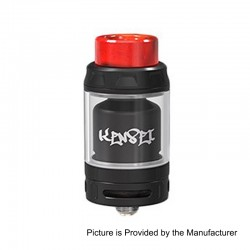 Authentic Vandy Vape Kensei 24 RTA Rebuildable Tank Atomizer - Matte Black, Stainless Steel, 4ml, 24.4mm Diameter