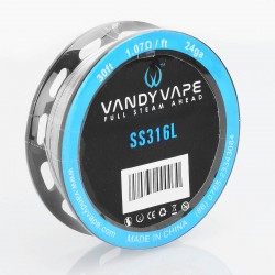 Authentic Vandy Vape SS316L Heating Resistance Wire - 24GA, 1.07 Ohm / Ft, 10m (30 Feet)