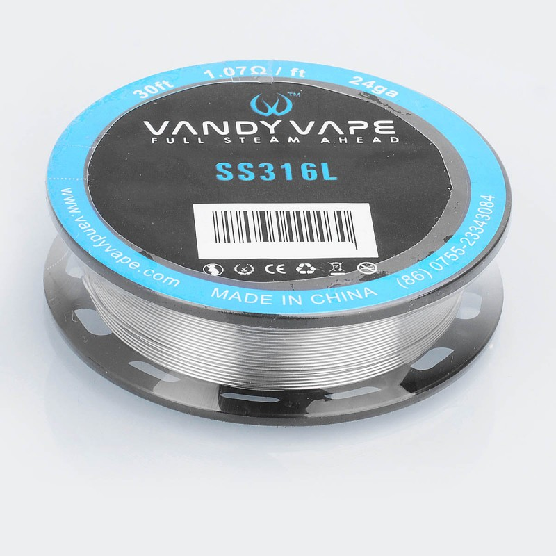 Authentic Vandy Vape SS316L 24GA 1.07ohm Heating Resistance Wire