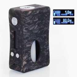 Authentic Aleader Box Killer 80W BF Squonker TC VW Variable Wattage Mod - Black + Red, Resin, 1~80W, 7ml, 1 x 18650