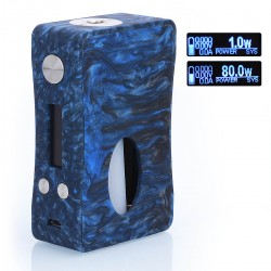 Authentic Aleader Box Killer 80W BF Squonker TC VW Variable Wattage Mod - Black + Blue, Resin, 1~80W, 7ml, 1 x 18650