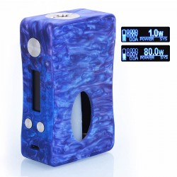 Authentic Aleader Box Killer 80W BF Squonker TC VW Variable Wattage Mod - Blue + Purple, Resin, 1~80W, 7ml, 1 x 18650