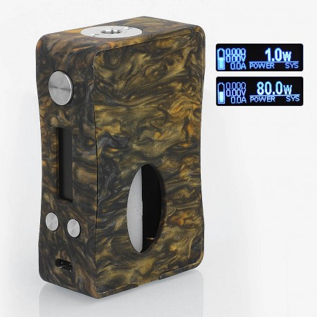 Authentic Aleader Box Killer 80W BF Squonker TC VW Variable Wattage Mod - Black + Orange, Resin, 1~80W, 7ml, 1 x 18650