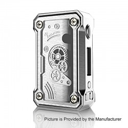 Authentic Tesla Punk 220W TC VW Variable Wattage Box Mod - Silver, Zinc Alloy + ABS + PC, 7~200W, 2 x 18650