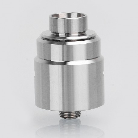 SXK Entheon Style RDA Rebuildable Dripping Atomizer w/ BF Pin - Silver, Stainless Steel, 22mm Diameter