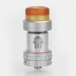Authentic Digiflavor Pharaoh Mini RTA Rebuildable Tank Atomizer - Silver, Stainless Steel, 5ml, 24mm Diameter