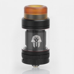 Authentic Digiflavor Pharaoh Mini RTA Rebuildable Tank Atomizer - Black, Stainless Steel, 5ml, 24mm Diameter
