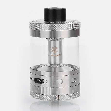 Authentic Steam Crave Aromamizer Titan RDTA Rebuildable Dripping Tank Atomizer - Silver, Stainless Steel, 28ml, 41mm Diameter