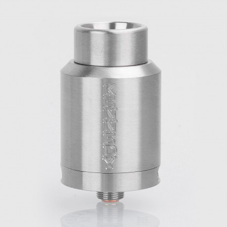 Kennedy 24 Style RDA Rebuildable Dripping Atomizer w/ BF Pin - Silver, Stainless Steel, 24mm Diameter