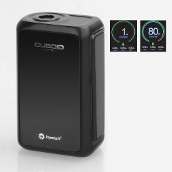 Authentic Joyetech Cuboid Lite 80W 3000mAh TC VW Variable Wattage Box Mod - Black, Zincy Alloy, 1~80W