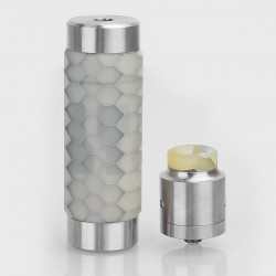 Authentic Wismec Reuleaux RX Machina Mod + Guillotine RDA Kit - White Honeycomb, Stainless Steel + Resin, 1 x 18650 / 20700