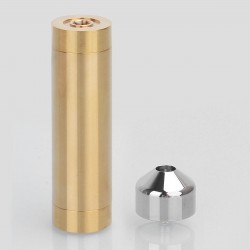 Little Cannon Style Mechanical Mod + RDA Kit - Brass + Silver, Brass + Titanium + Stainless Steel, 1 x 18650, 24mm Diameter