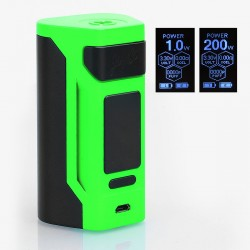 Authentic Wismec Reuleaux RX2 200W TC VW Variable Wattage Mod - Green, 1~200W, 2 x 20700 / 18650
