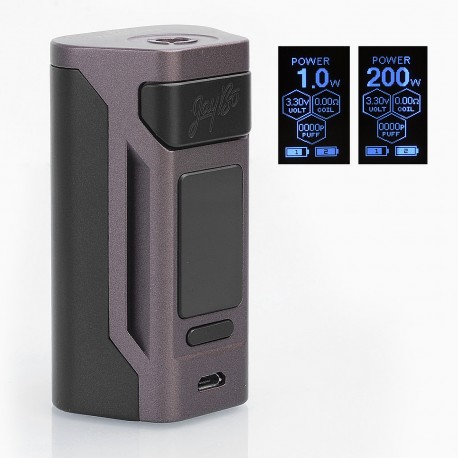Authentic Wismec Reuleaux RX2 200W TC VW Variable Wattage Mod - Brown, 1~200W, 2 x 20700 / 18650
