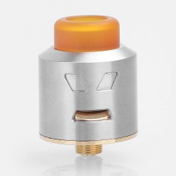 Authentic Smoant Battlestar RDA Rebuildable Dripping Atomizer - Silver, Stainless Steel, 24mm Diameter