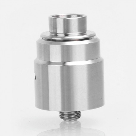 Kindbright Entheon Style RDA Rebuildable Dripping Atomizer w/ BF Pin - Silver, 316 Stainless Steel, 22mm Diameter (Without Logo)