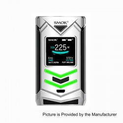 Authentic SMOKTech SMOK Veneno 225W TC VW Variable Wattage Mod - Silver Black, 1~225W, 2 x 18650