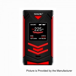 Authentic SMOKTech SMOK Veneno 225W TC VW Variable Wattage Mod - Black Red, 1~225W, 2 x 18650