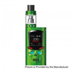 Authentic SMOKTech SMOK S-Priv 230W TC VW Mod + TFV8 Big Baby Light Edition Tank Kit - Green, 1~230W, 2 x 18650, 5ml, 24.5mm