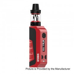 Authentic Sigelei E1 80W TC VW Variable Wattage Mod Kit - Red, Zinc Alloy + Plastic, 10~80W, 1 x 18650