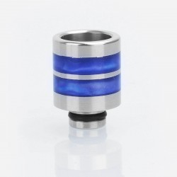 510 Replacement Drip Tip for SMOKTech SMOK TFV8 Baby Sub Ohm Tank - Blue, Epoxy Resin + Stainless Steel, 21mm