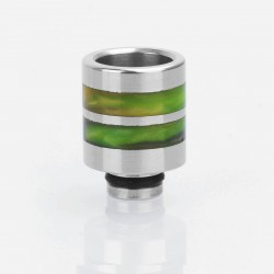 510 Replacement Drip Tip for SMOKTech SMOK TFV8 Baby Sub Ohm Tank - Green, Epoxy Resin + Stainless Steel, 21mm