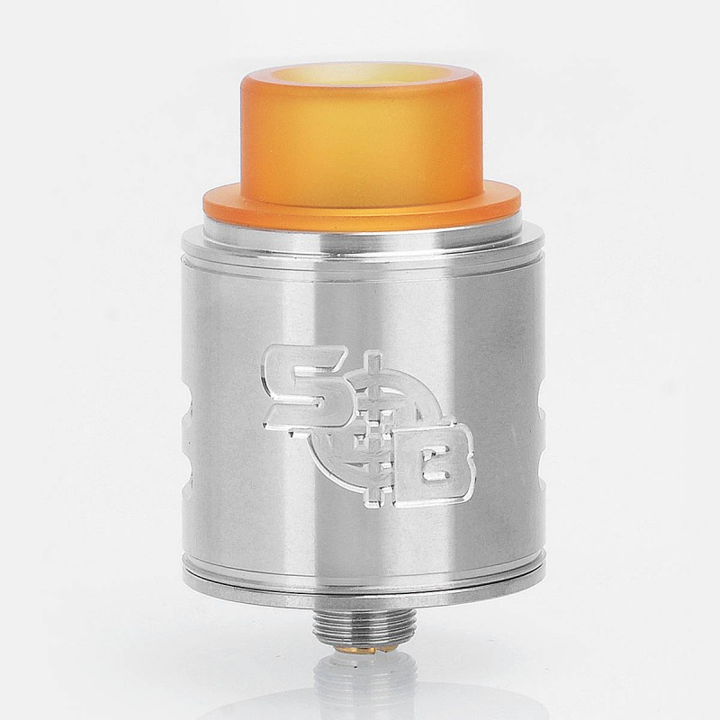 SOB Style RDA Silver SS 24mm Rebuildable Dripping Atomizer