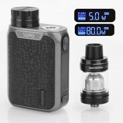Authentic Vaporesso Swag 80W TC VW Variable Wattage Box Mod + NRG SE Tank Kit - Black, 5~80W, 1 x 18650, 3.5ml, 22mm Diameter