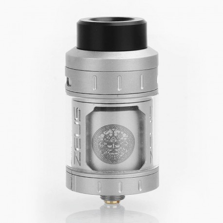 Authentic GeekVape Zeus RTA Rebuildable Tank Atomizer - Silver, Stainless Steel, 25mm Diameter, 4ml Standard Edition