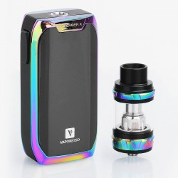 Authentic Vaporesso Revenger X 220W TC VW Variable Wattage Mod + NRG Tank Kit - Rainbow, 5~220W, 2 x 18650, 5ml, 26.5mm Diameter