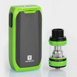 Authentic Vaporesso Revenger X 220W TC VW Variable Wattage Mod + NRG Tank Kit - Green, 5~220W, 2 x 18650, 5ml, 26.5mm Diameter