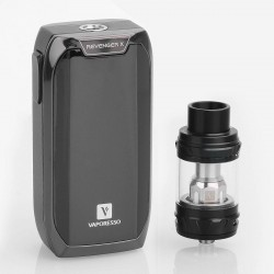 Authentic Vaporesso Revenger X 220W TC VW Variable Wattage Mod + NRG Tank Kit - Black, 5~220W, 2 x 18650, 5ml, 26.5mm Diameter