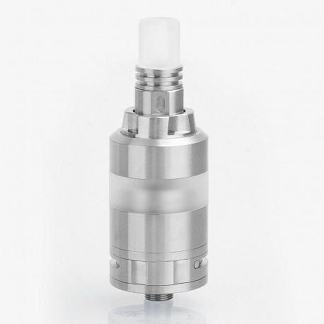 KA V7 Nano Style RTA Rebuildable Tank Atomizer - Silver, Stainless Steel, 3ml, 23mm Diameter