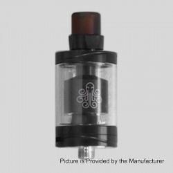 Authentic Cthulhu Hastur MTL RTA Rebuildable Tank Atomizer - Black, Stainless Steel, 3.5ml, 24mm Diameter