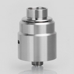 YFTK Entheon Style RDA Rebuildable Dripping Atomizer w/ BF Pin - Silver, Stainless Steel, 22mm Diameter