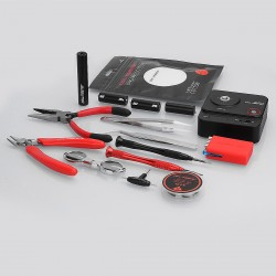 Authentic Coil Master DIY Kit V3 w/ 521 Mini V2 Resistance Tester - Pliers + Scissors + Screwdrivers + Tweezers + Coiling Kit