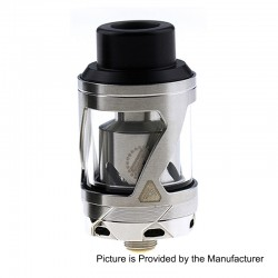 Authentic Limitless Hextron Sub Ohm Tank Atomizer - Silver, Stainless Steel, 3ml, 24mm Diameter