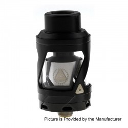 Authentic Limitless Hextron Sub Ohm Tank Atomizer - Black, Stainless Steel, 3ml, 24mm Diameter