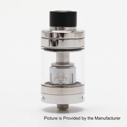 Authentic Advken Dominator Sub Ohm Tank Atomzier - Silver, Stainless Steel, 4.5ml, 24mm Diameter