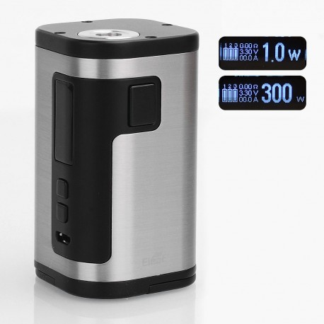 Authentic Eleaf iStick Tria 300W TC VW Variable Wattage Box Mod - Silver, 1~300W, 3 x 18650