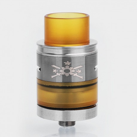 Kampilan Style RDTA Rebuildable Dripping Tank Atomizer - Black, Stainless Steel + PEI, 5ml, 24mm Diameter