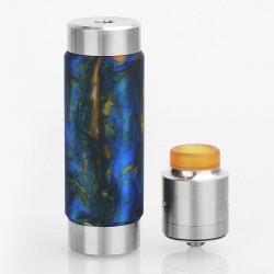 Authentic Wismec Reuleaux RX Machina Mod + Guillotine RDA Kit - Swirled Metallic Resin, SS + Resin, 1 x 18650 / 20700