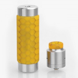 Authentic Wismec Reuleaux RX Machina Mod + Guillotine RDA Kit - Honeycomb Resin, Stainless Steel + Resin, 1 x 18650 / 20700