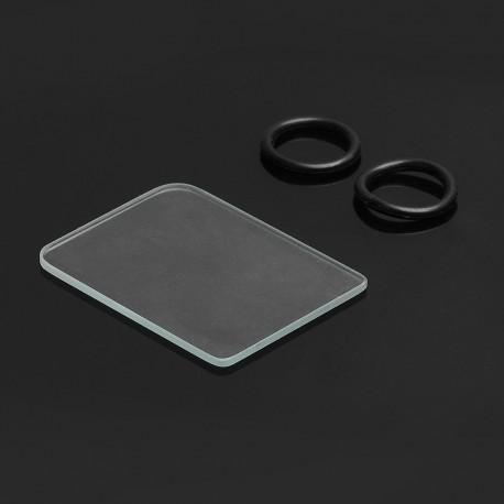 SXK Replacement Tank Cover Plate + O-rings for BB Box Mod Kit - Glass + Silicone