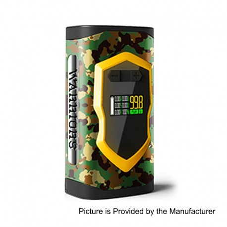 Authentic Laisimo Warriors 230W TC VW Variable Wattage Box Mod - Camouflage, Zinc Alloy, 10~230W, 2 x 18650 / 20700