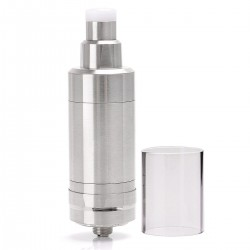 SJMY KF V5 KF 5 Style RTA Rebuildable Tank Atomizer - Silver, 316 Stainless Steel, 5ml, 22mm Diameter